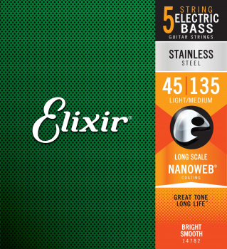 Elixir 14207 Stainless Steel Light 5-String 045-135 E-Bass Saiten